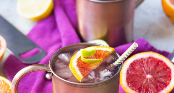 Winter Citrus Moscow Mules