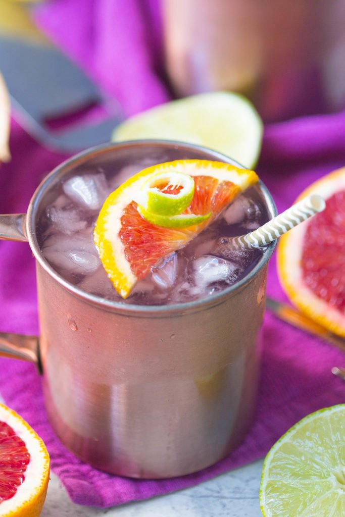 Winter Citrus Moscow Mule | Easy Moscow Mule Recipe