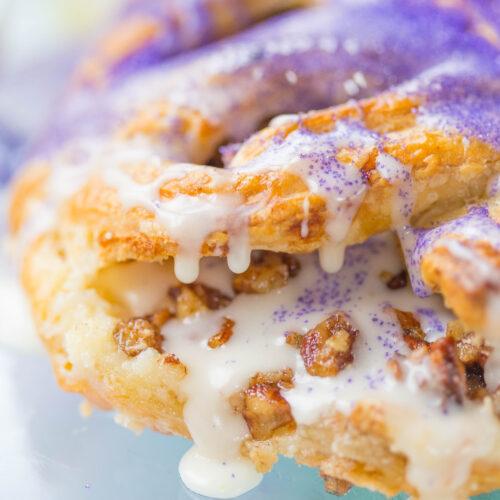 King Cake Pecan Praline Puff Pastry