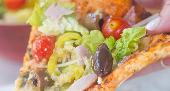 Easy Summer Salad Flatbread w/ American Flatbread Pizzas