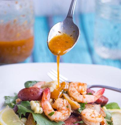 Sheet Pan Lowcountry Boil Salad w/ Old Bay Vinaigrette