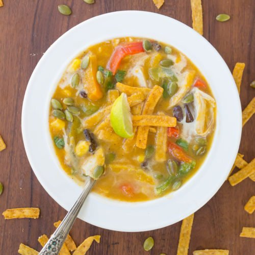 Butternut Squash Chicken Tortilla Soup