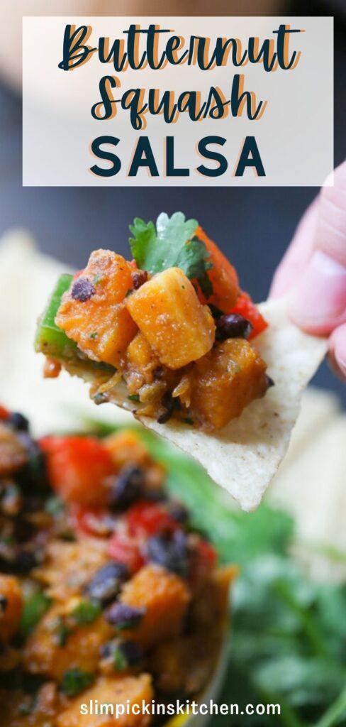 Butternut Squash and Black Bean Salsa Recipe for Pinterest