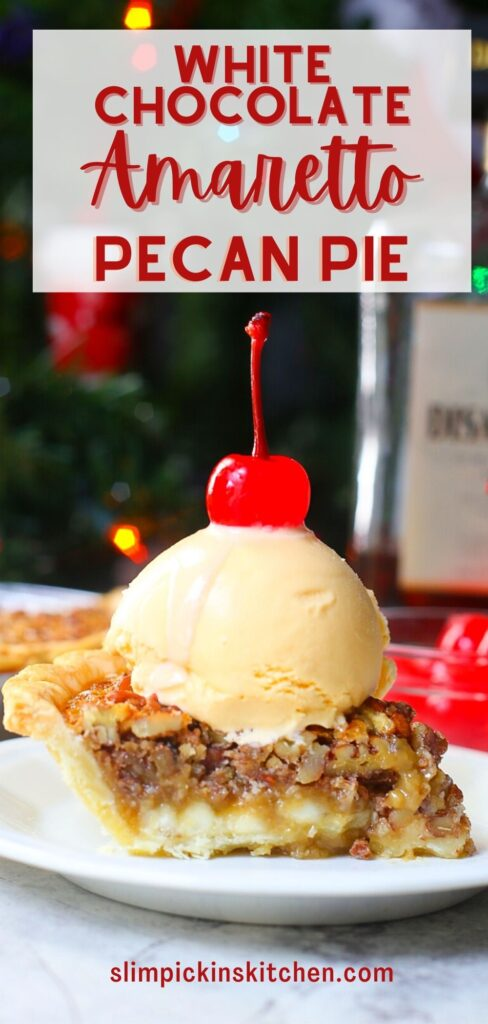 White Chocolate Amaretto Pecan Pie
