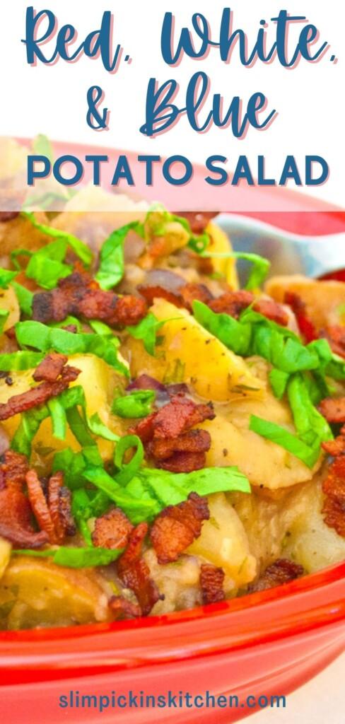 Red, White, and Blue Potato Salad Pinterest Image